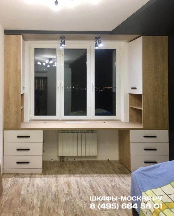 Шкаф вокруг окна 020