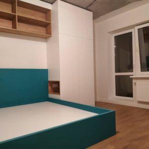 Шкаф вокруг кровати 005
