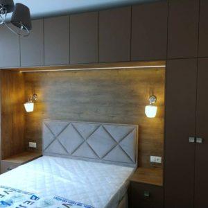 Шкаф вокруг кровати 006