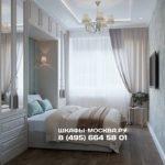 Шкаф вокруг кровати 007