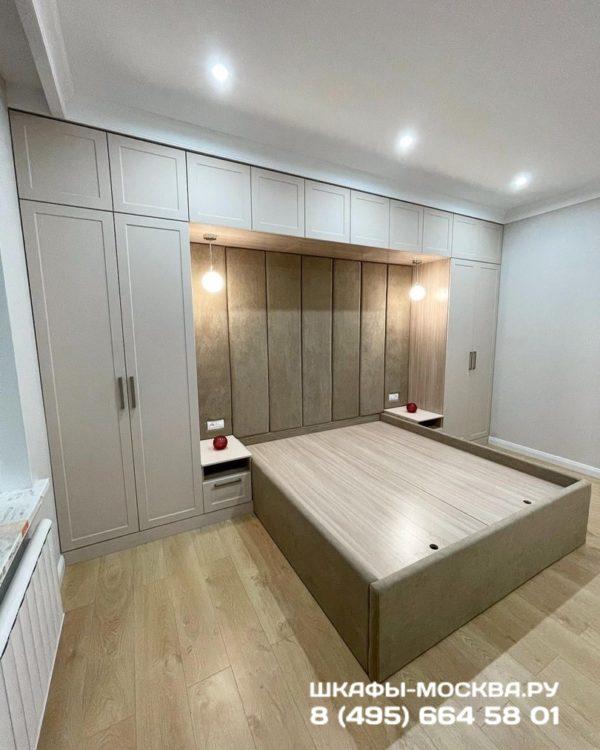 Шкаф вокруг кровати 008
