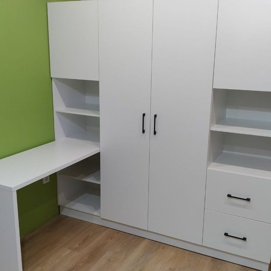 Шкаф со столом 004