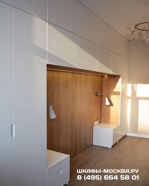 Шкаф вокруг кровати 015