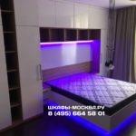 Шкаф вокруг кровати 016