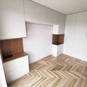 Шкаф вокруг кровати 021