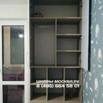 Шкаф вокруг окна 045